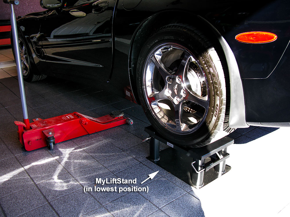 DIY home auto repair lift stands